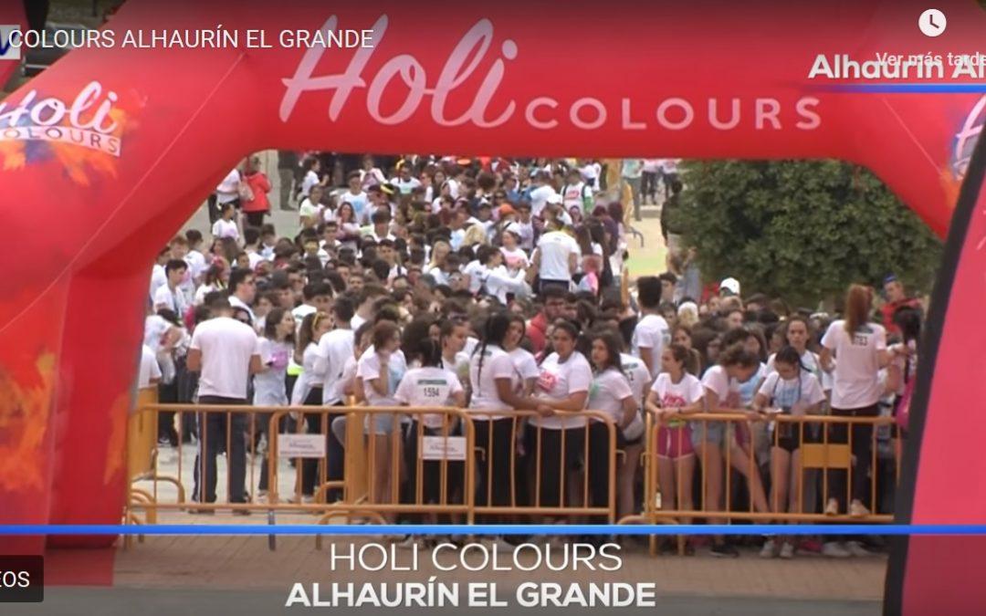 Explosión de color en Alhaurín el Grande con la Holi Colours que reunió a unas 3.000 personas