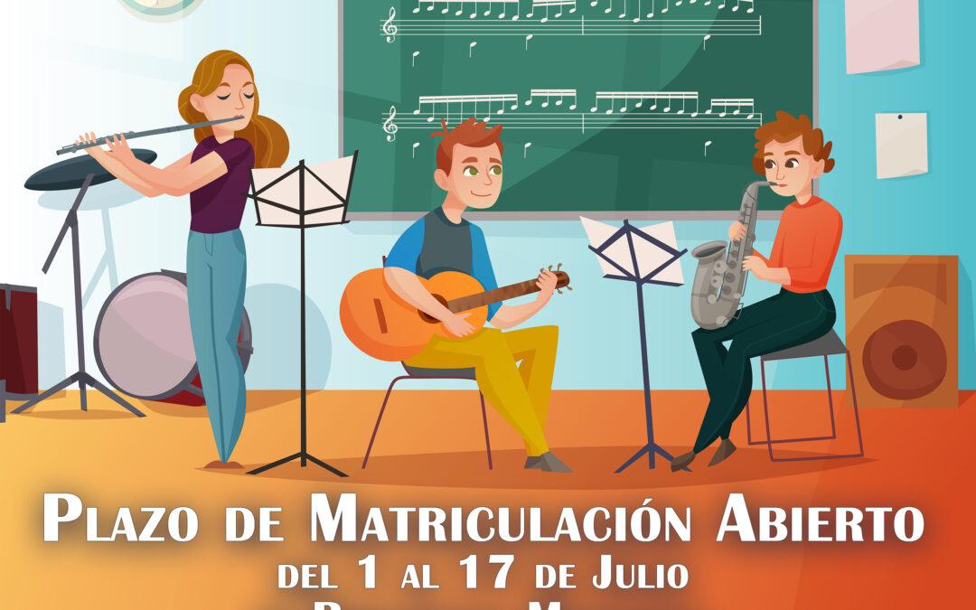 """LA ESCUELA MUNICIPAL DE MÚSICA """"PACO EL GUARDAMONTES"""" ABRE EL PLAZO DE MATRICULACIÓN DEL 1 AL 17 DE JULIO"""