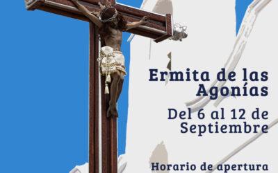 LA ERMITA DEL CRISTO DE LAS AGONÍAS ABRIRÁ EN HORARIO ESPECIAL DEL 6 AL 12 DE SEPTIEMBRE