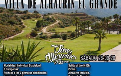 """El V Torneo de Golf """"Villa de Alhaurín el Grande"""" tendrá lugar el próximo 26 de septiembre."""