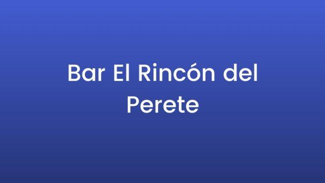 Bar El Rincón del Perete