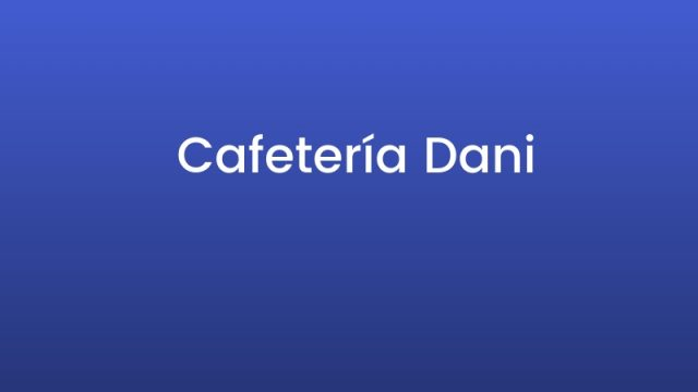 Cafetería Dani