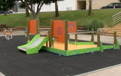 """Se renueva el parque """"El Palomar"""" con atracciones para niños y niñas con diversidad funcional."""