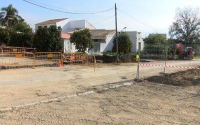Comienzan las obras en Calle Ronda Poniente de Villafranco del Guadalhorce
