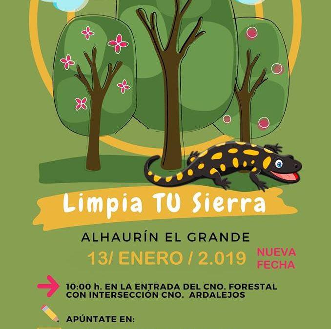 """La jornada medioambiental """"Cuida TU Sierra"""", tendrá lugar el próximo domingo 13 de enero."""