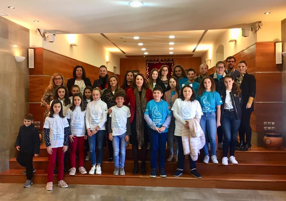 Escolares de Alhaurín el Grande participan en el Pleno del Consejo de la Infancia y la Adolescencia