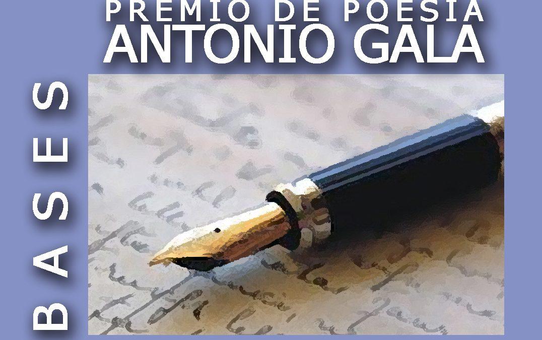 Bases Premio Internacional de Poesía Antonio Gala 2019