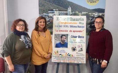 Se presenta la próxima conferencia del ciclo Educ@lhaurín, que correrá a cargo del prestigioso maestro y escritor César Bona