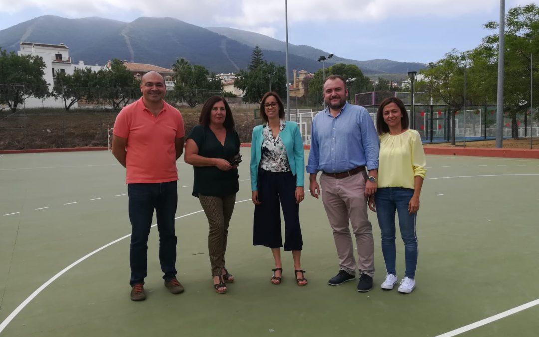 La Alcaldesa y el Equipo de Gobierno visitan el Polideportivo Municipal