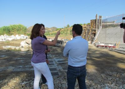 Alcaldesa junto Ediles de obras y proyectos