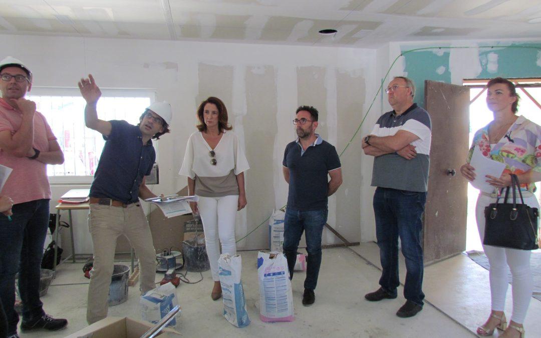 Las obras en la nueva Biblioteca Municipal de Villafranco del Guadalhorce quedarán terminadas a finales de julio.
