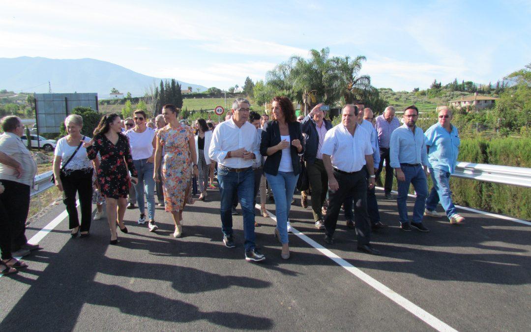 Abierto el nuevo puente sobre el Río Fahala que comunica Alhaurín el Grande y Villafranco del Guadalhorce.