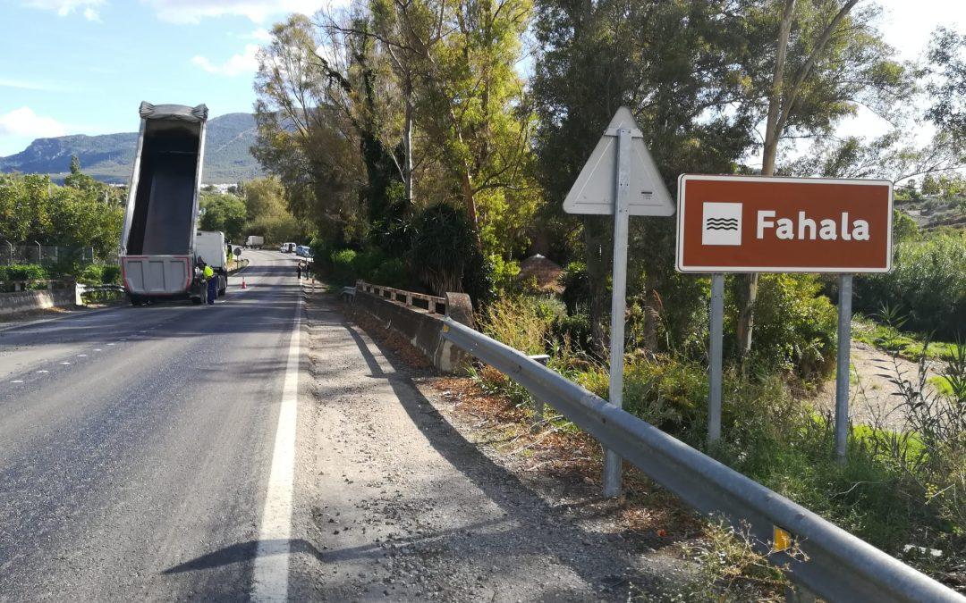 La Junta de Andalucía acomete importantes obras de mejora en la carretera A-404.
