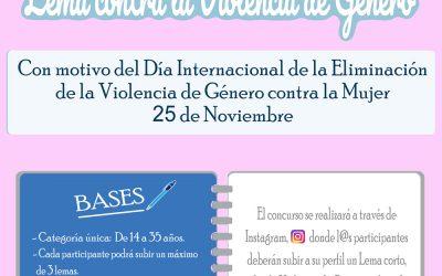 Con motivo del Día Internacional de la Eliminación de la Violencia contra la Mujer el Ayuntamiento de Alhaurín el Grande convoca el I Concurso de Lemas contra la Violencia de Género