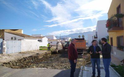 El Ayuntamiento acomete la segunda fase de la calle Ronda Poniente en Villafranco del Guadalhorce