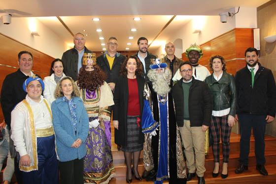 SS.MM. Los Reyes Magos visitan el Ayuntamiento