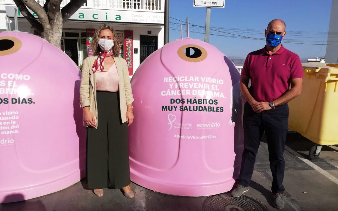 """""""Recicla vidrio por ellas"""" con motivo del Día Contra el Cáncer de Mama"""