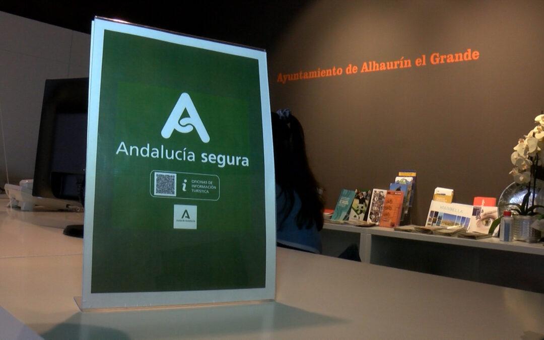 """La Oficina de Turismo de Alhaurín el Grande obtiene el distintivo """"Andalucía Segura"""""""