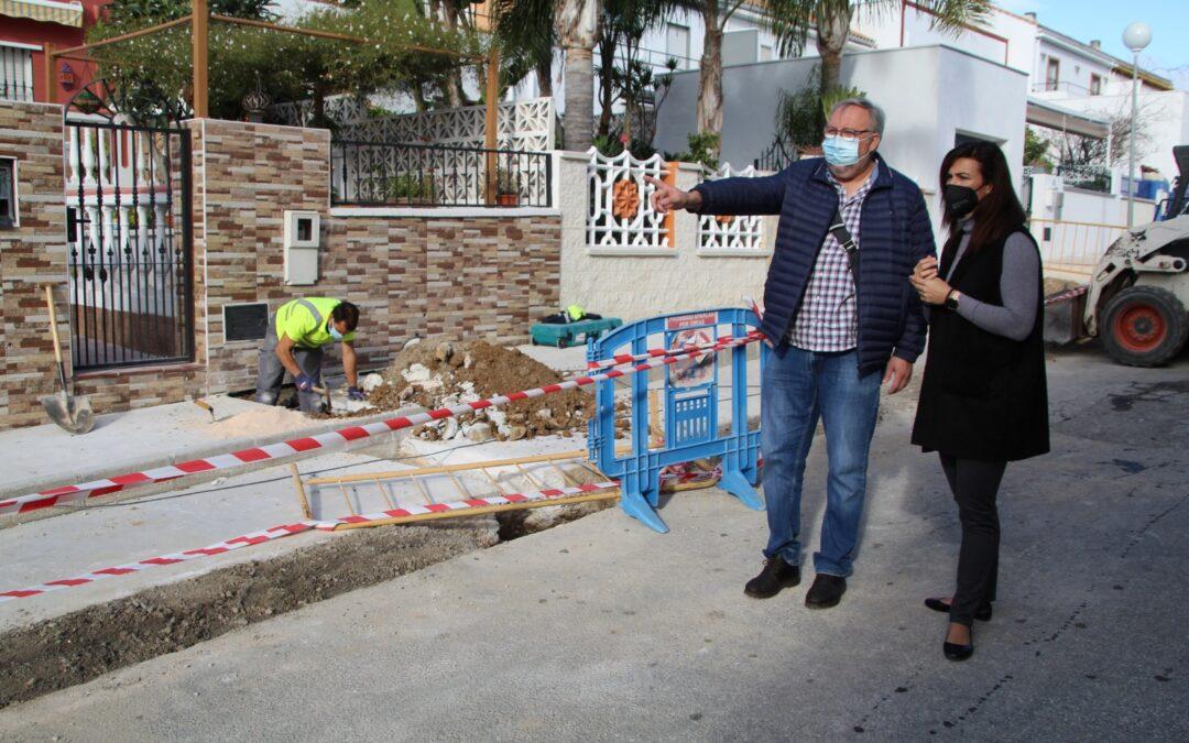Comienzan las obras de mejora de la Red de Abastecimiento de Agua en Villafranco del Guadalhorce