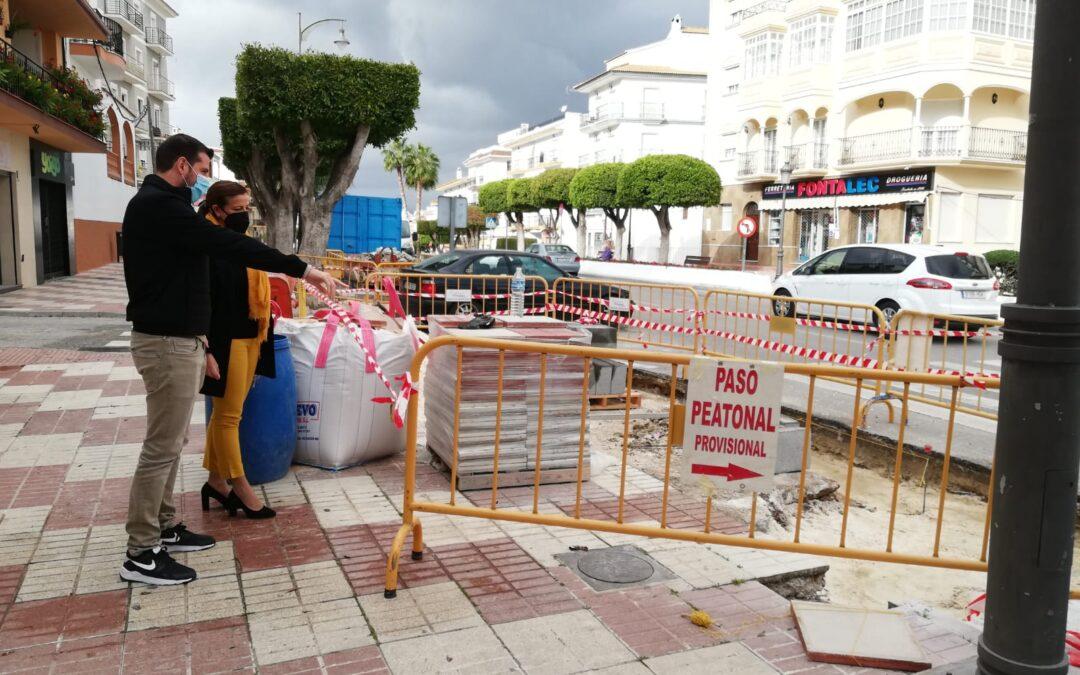 El Ayuntamiento continúa con los trabajos de mejora de accesibilidad en Camino de Málaga