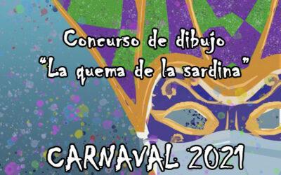 CARNAVAL 2021: Concurso de dibujo «La quema de la Sardina»
