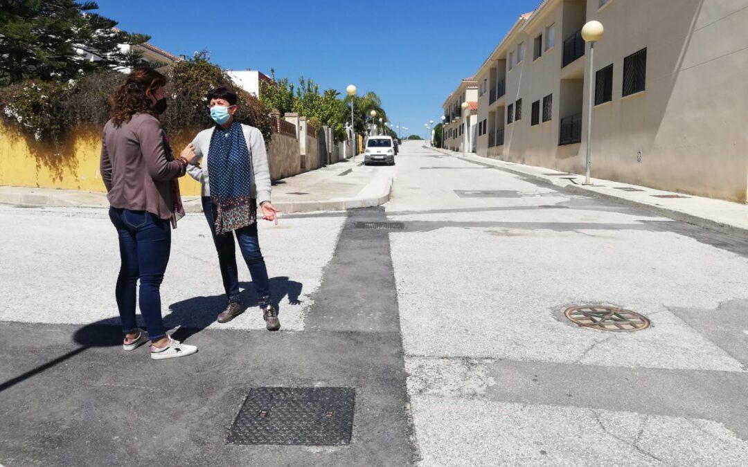Villafranco del Guadahorce cuenta con una nueva red de Abastecimiento de agua en Avda. María Auxiliadora