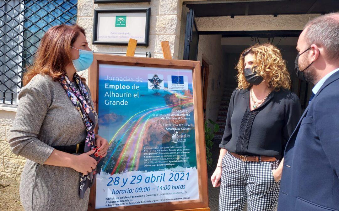 "La Alcaldesa Toñi Ledesma abre las Jornadas de Empleo dentro del Proyecto ""Alhaurín el Grande 2021. Cultura Integradora"""