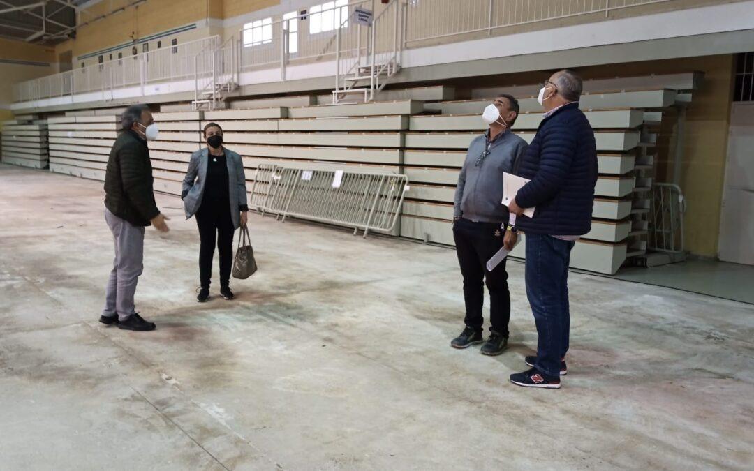 Se inician las obras de reparación del Pabellón I del Polideportivo Municipal dañado por el temporal de 2019