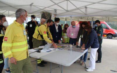Alhaurín el Grande Puesto de Mando Avanzado (PMA) de un simulacro de incendio forestal del Plan INFOCA