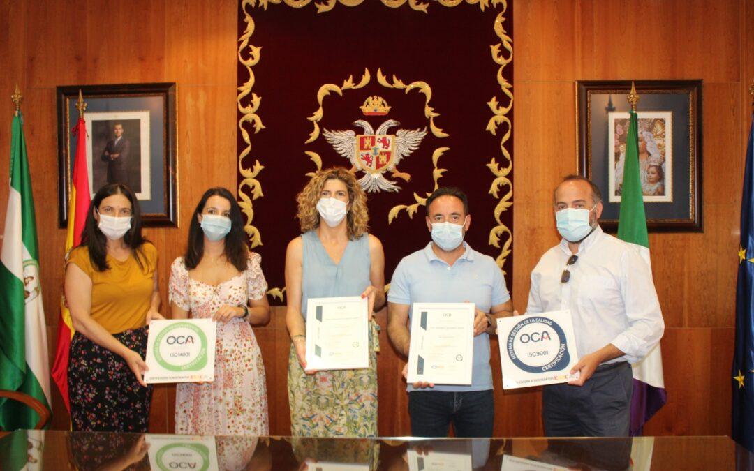 Tres centros municipales de formación obtienen los Certificados de Calidad ISO 9001 y de Calidad Medioambiental ISO 14001